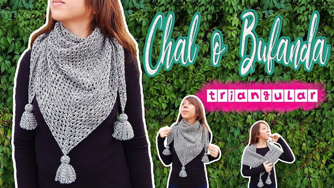 Chal O Bufanda Triangular Tejida A Crochet Paso A Paso Muy Fácil Hilo Knitcrate Youtube