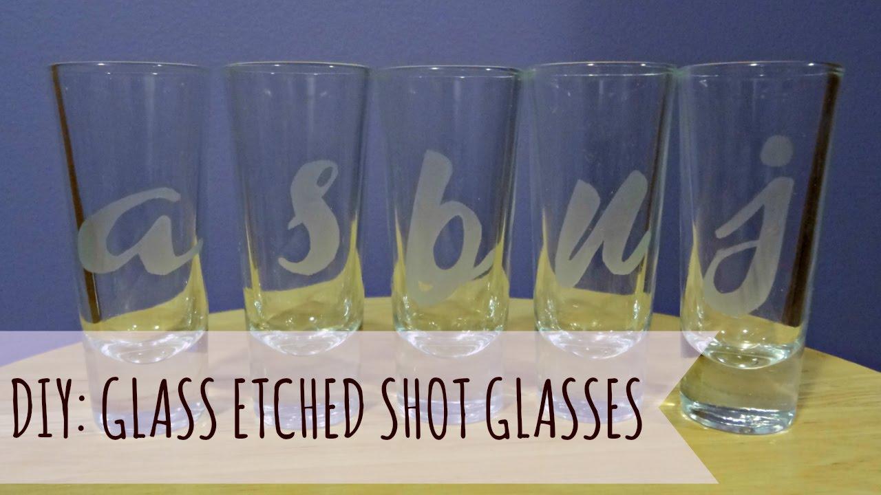 Diy Glass Etched Shot Glasses Joi Garcia