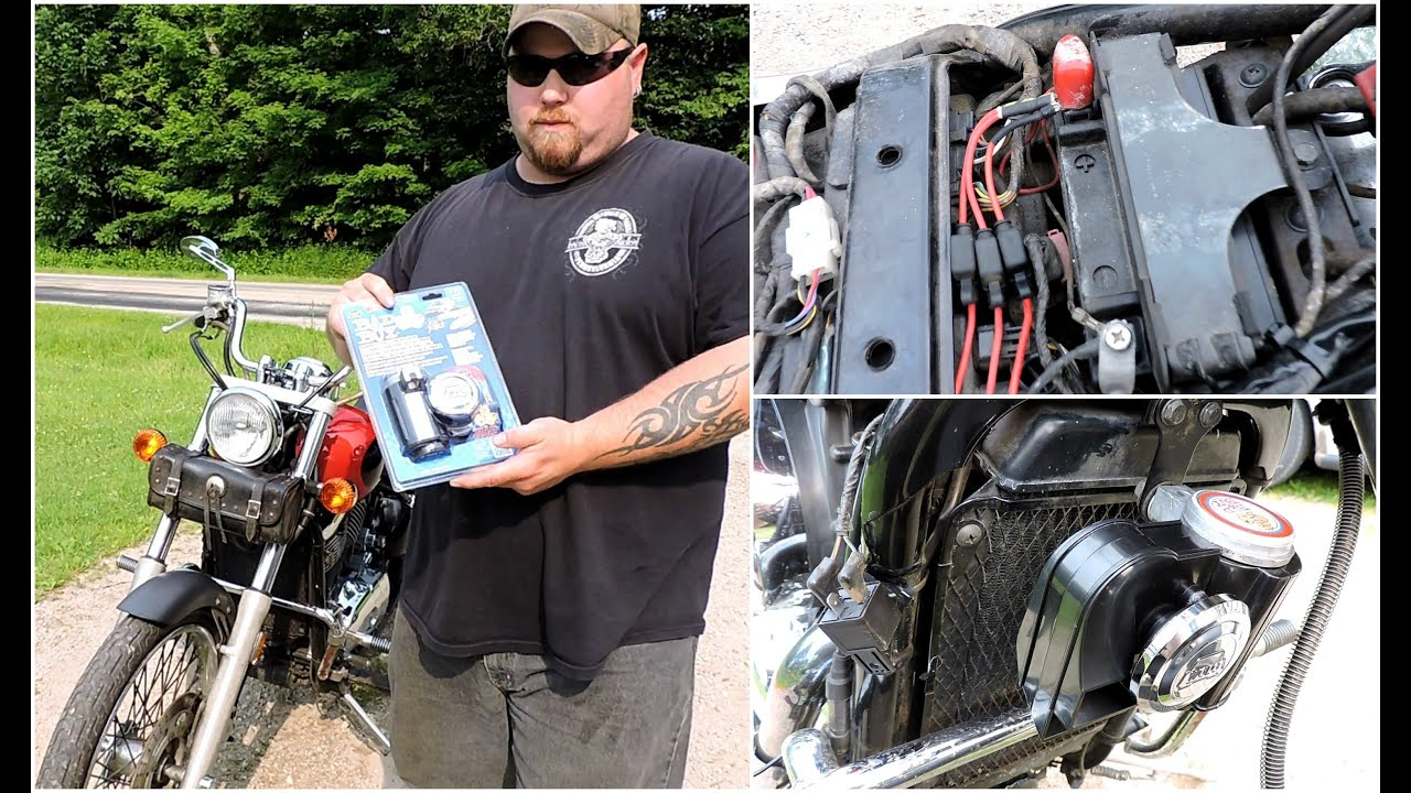 hight resolution of installing a wolo bad boy air horn on a motorcycle
