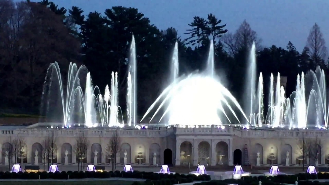 Longwood Gardens Fountain Show Main Fountain Garden Fountain Testing Youtube