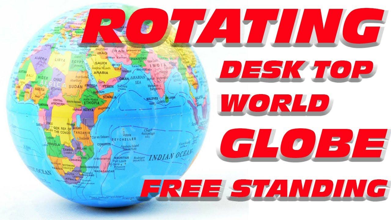 World Atlas Revolving Globe Blue Battery Operated Earth Planet
