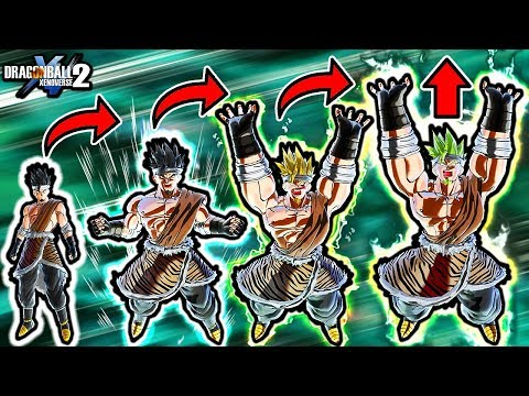 THIS NEW SKILL MAKES YOU INTO ALL BROLY FORMS! Dragon Ball Xenoverse 2 Custom Broly Movie CaC Skills