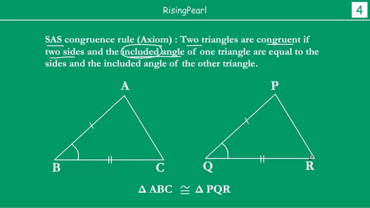 sas (side angle side) congruence rule (axiom) youtubeSas Triangle Diagram #18