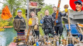 We Found $2365 in Underwater River Treasure from Action Camera, Phones and More! {Scuba Diving}