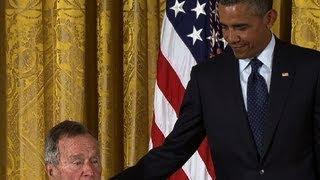 Obama honors George H.W. Bush