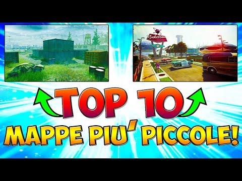 """TOP 10 """"MAPPE PIU' PICCOLE"""" NELLA STORIA DI CALL OF DUTY! (COD: Multiplayer - ITA)"""
