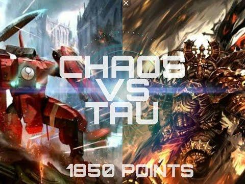 TAU VS CHAOS SPACE MARINES 1850 POINTS