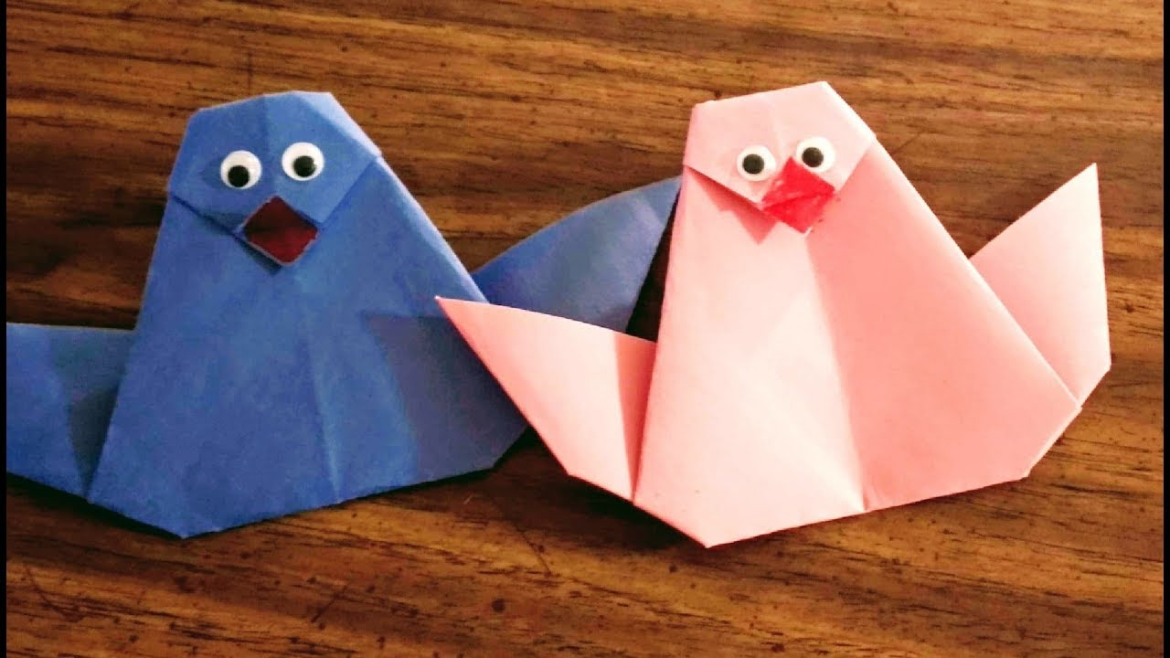 Diy Paper Crafts For Kids How To Make An Origami Bird Tutorial