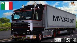 Italia DLC | Scania 143 Bari - Pescara | Euro Truck Simulator 2 (ETS2 1.30)