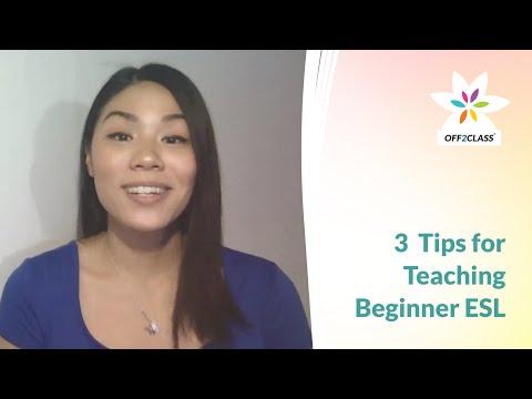 3 Tips for Teaching Beginner ESL