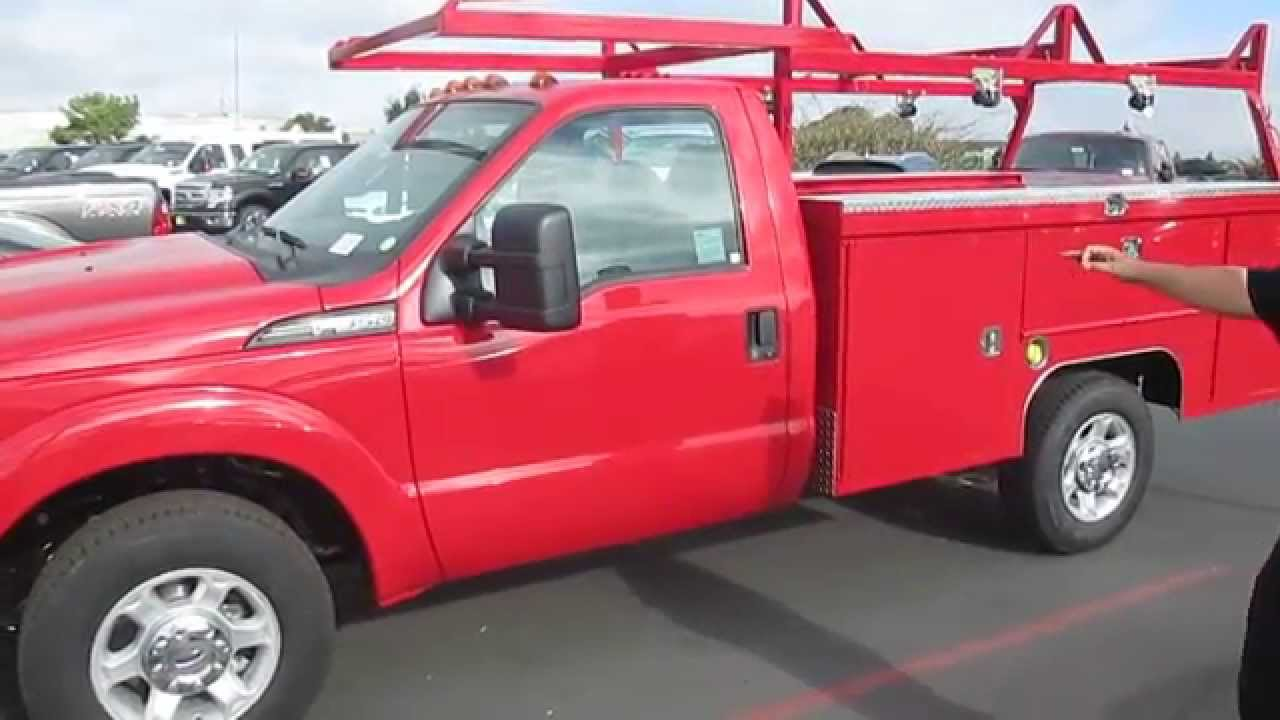 Red Scelzi 9 Service Body On Ford F350 Gets Attention