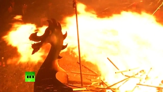 Ship on Fire! Viking Up Helly Aa festival heats up in Scotland