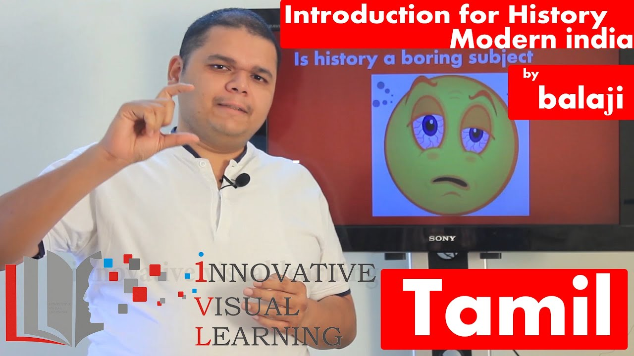 Introduction for History - Modern indian history in Tamil by Balaji Prem  kumar