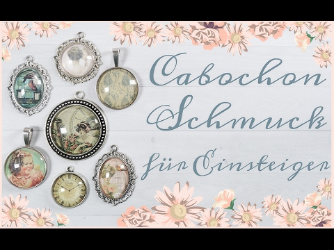 diy schmuck selber machen ohrstecker mit cabochons von. Black Bedroom Furniture Sets. Home Design Ideas