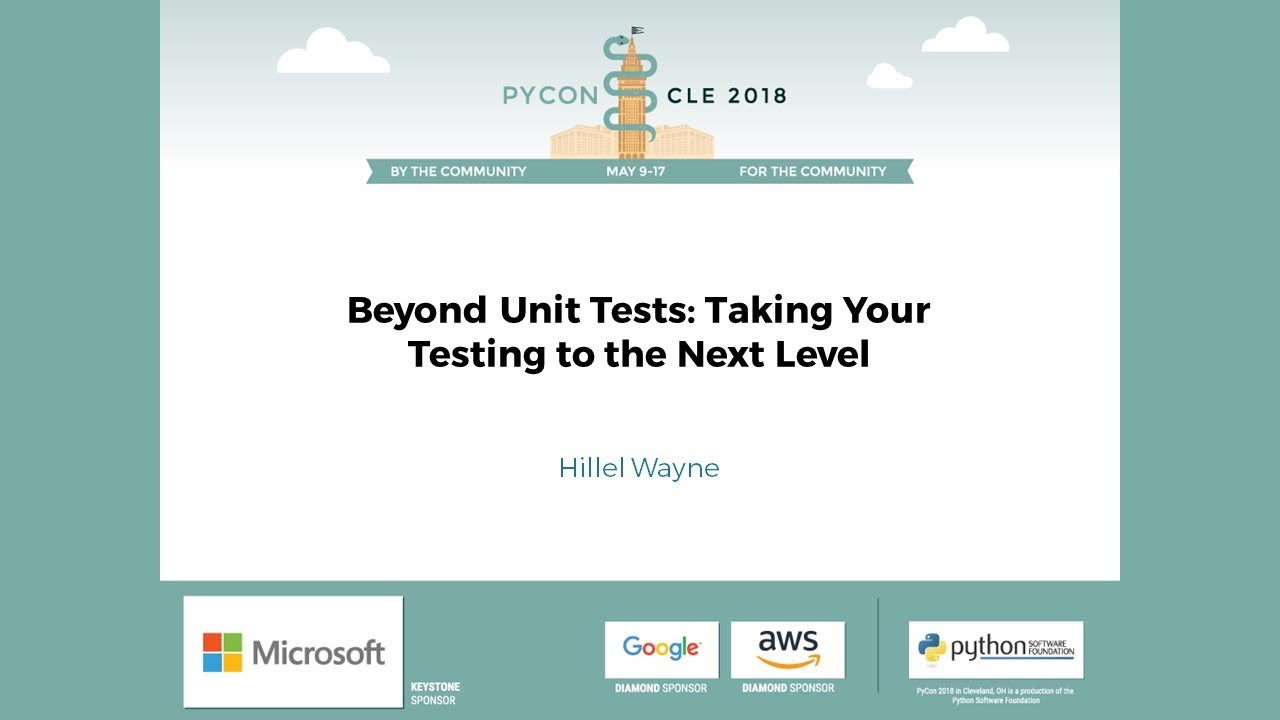 Image from Beyond Unit Tests: Taking Your Testing to the Next Level