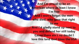 lee greenwood god bless the usa lyrics