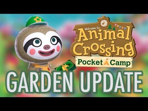 Animal Crossing Pocket Camp - NEW GARDEN AREA