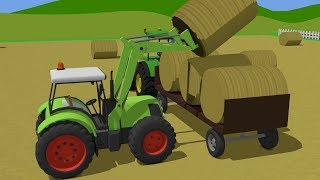 Green Tractor For Children | Tractors and other fairy tales | Colors andShape
