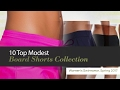 10 Top Modest Board Shorts Collection Women's Swimwear, Spring 2017