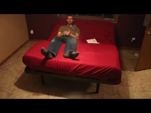 Unboxing my Hofish adjustable bed base and Purple mattress.