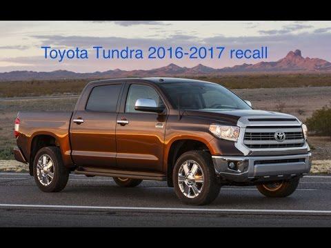 Toyota Tundra recall 2016-2017