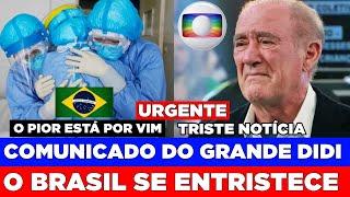 TRISTE NOTICIA AOS FÃS DE RENATO ARAGÃO ABALA | O PIOR DO COVIID ESTÁ VINDO, GLOBO FICA SEM SAÍDA..