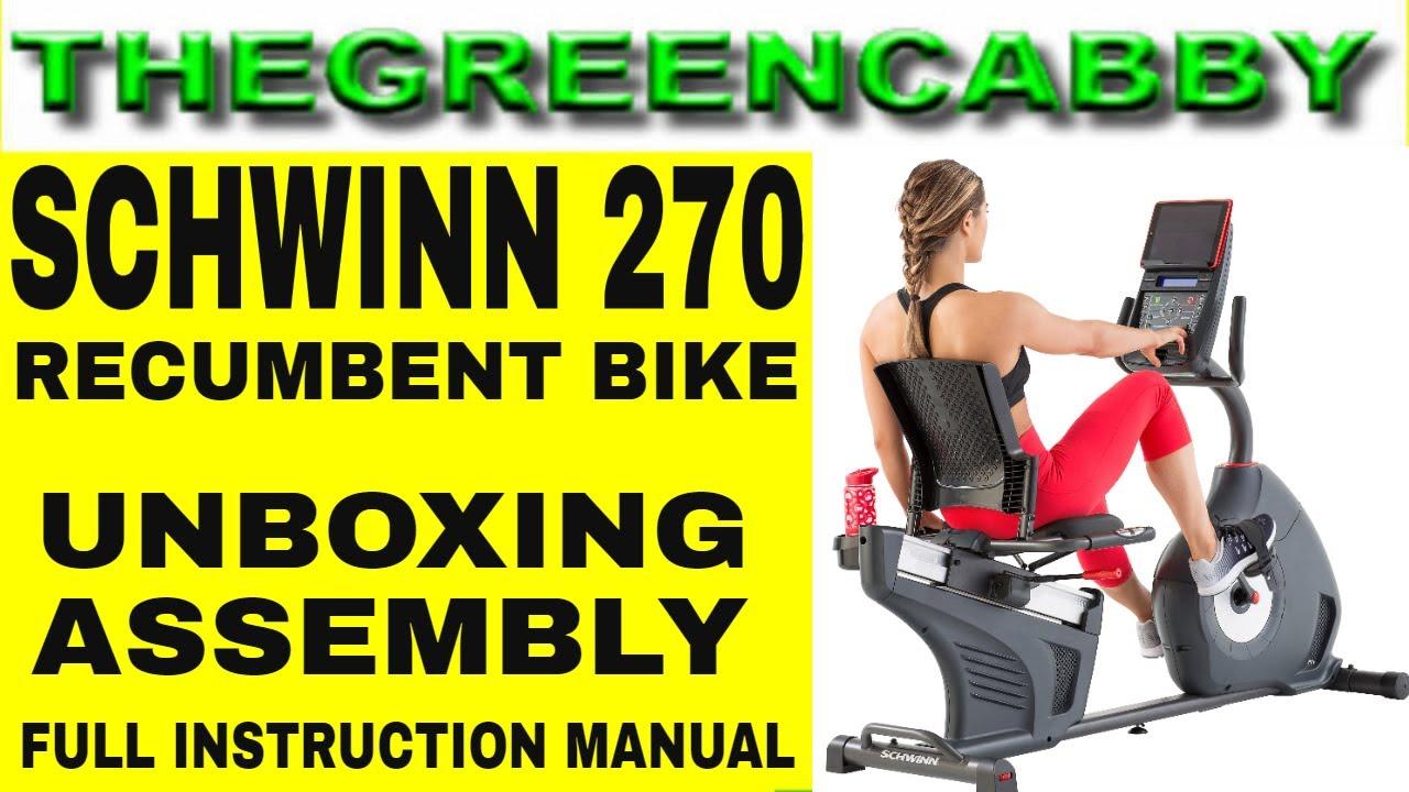 Schwinn 270 Recumbent Exercise Bike Unboxing Assembly Full