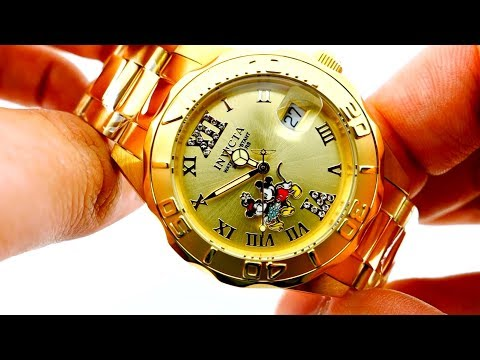 Invicta Gold Watch Disney Limited Edition Model 22868