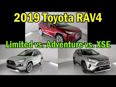 2019 Toyota RAV4 Limited vs. XSE vs. Adventure: VISUAL COMPARISON