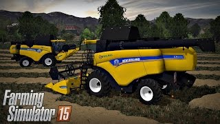 Prezentacja gospodarki i żniwa ☆ FS15 MP #14 - New Holland Team ☆ Bronczek & MrAdamo15