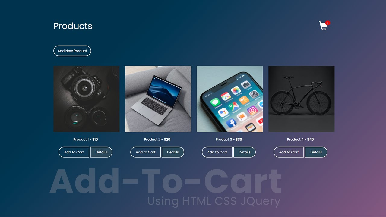 Add to Cart Animation Effect for Ecommerce Website Like Flipkart in HTML CSS JQ