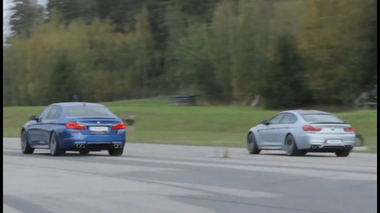 Tuned Bmw M5 F10 Vs M6 Gran Coupé With 305 Km H Limiter Stock