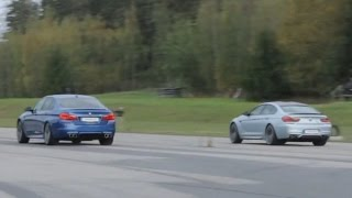Tuned BMW M5 F10 vs BMW M6 Gran Coupé with 305 km/h limiter (stock)