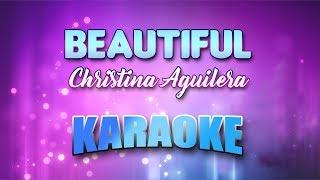 Christina Aguilera - Beautiful (Karaoke version with Lyrics)