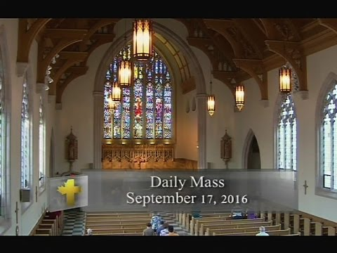 Daily Mass, Saturday 17 September 2016