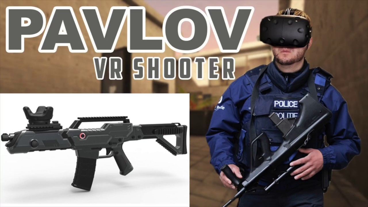 Pavlov VR| PP gun VR and Vive Tracker| HTC Vive Rifle in VR GamePlay