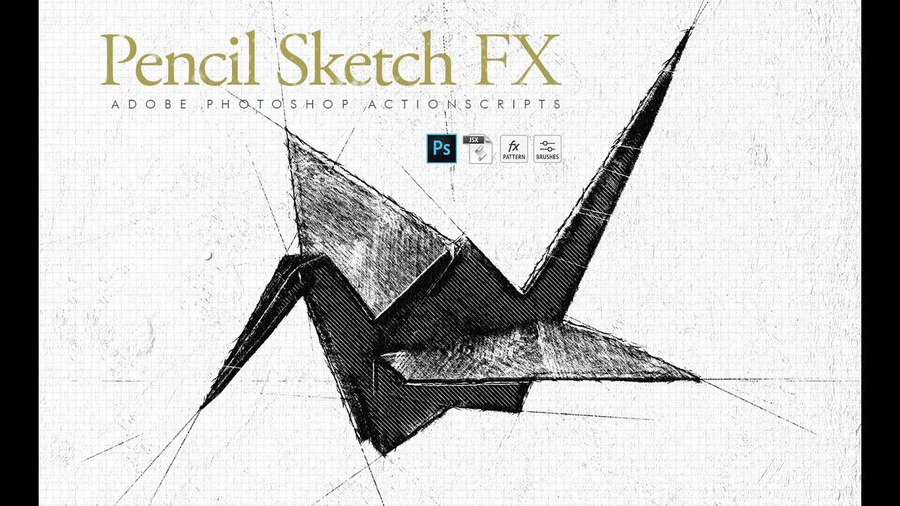 Video demo animated pencil sketch fx photoshop plugin actionscript