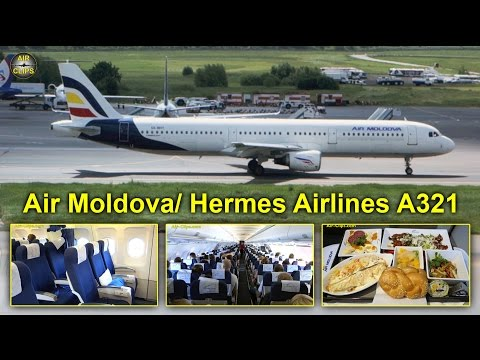 "Air Moldova A321 (Hermes Airlines) ""Business Class"" to Moscow DME [AirClips full flight series]"