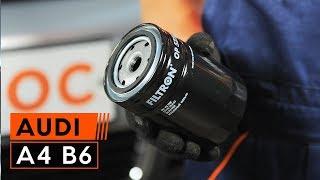 Cómo cambiar el aceite de motor, filtro de óleo en AUDI A4 B6 INSTRUCCIÓN | AUTODOC