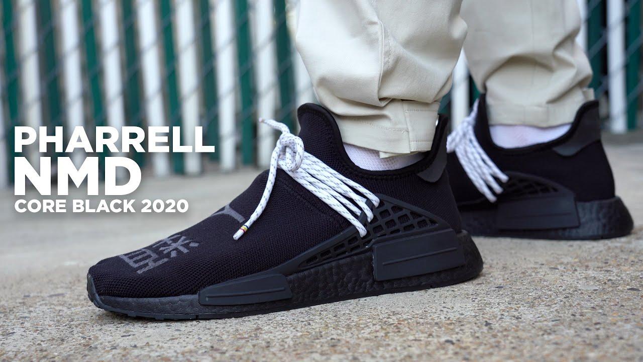 Adidas PHARRELL Hu NMD Core Black REVIEW