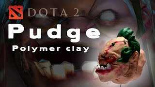 DOTA 2- PUDGE POLYMER CLAY HEAD FIGURES