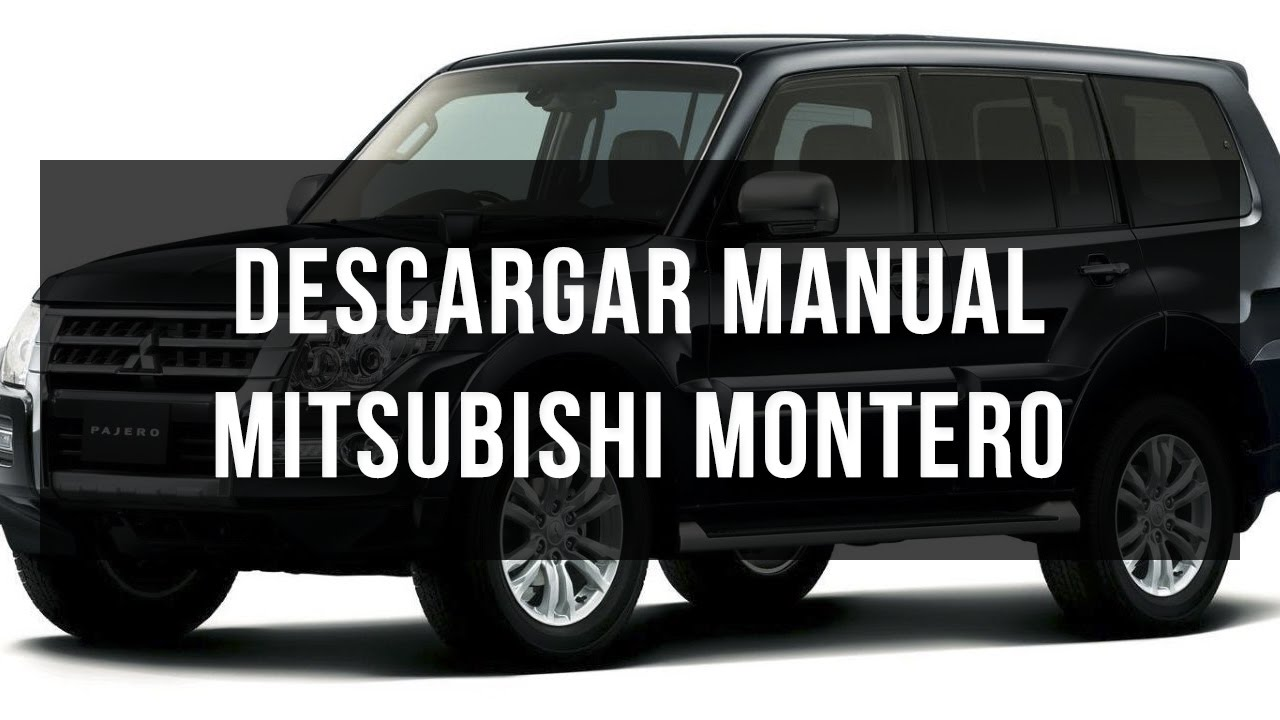 descargar manual de usuario mitsubishi montero youtube rh youtube com mitsubishi montero sport 1998 repair manual mitsubishi montero 1998 service manual