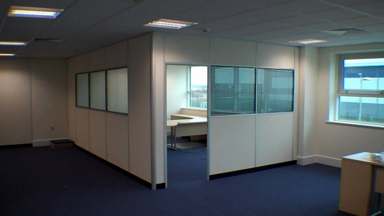 Office partitions and fit out from aci - YouTube