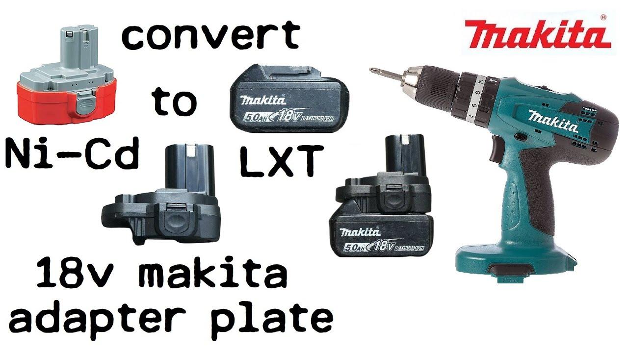 Lithium Battery Pack >> Makita 8319 Ni-Cd to Li-Ion Conversion Using Adaptor - Adapt Ni Cad Drill to LXT Lithium Ion ...