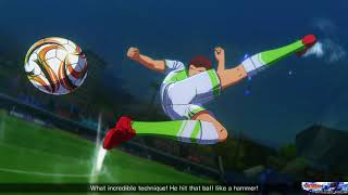 CAPTAIN TSUBASA: RISE OF NEW CHAMPIONS Online PvP ranked Match win CAC DreamTeam a tough game