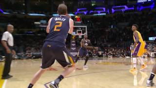 Ingles Game Winner Jazz vs Lakers Dec 27, 2016