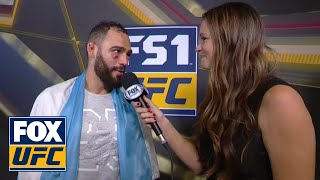 Santiago Ponzinibbio speaks after KO victory | INTERVIEW | UFC FIGHT NIGHT