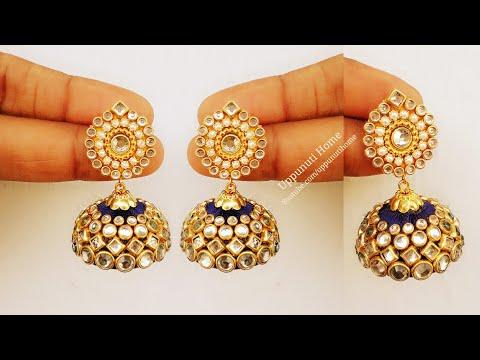 How To Make Beautiful Silk Thread Earrings At Home | Jhumkas Diy | Jewelry Making | uppunutihome