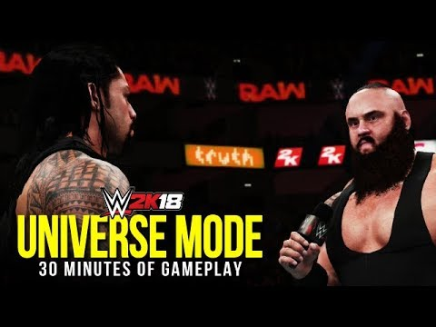 WWE 2K18: 30 Minutes Of Universe Mode (Menus, Promos, Matches & More)