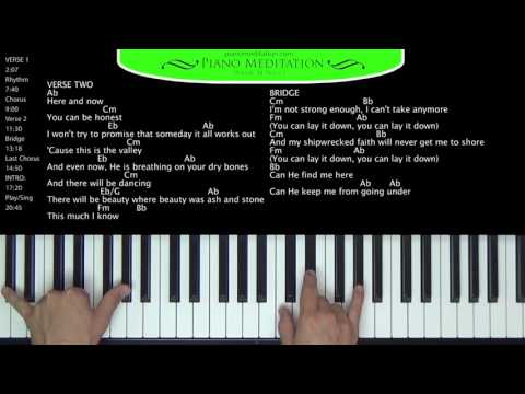 Oh My Soul (Casting Crowns) - How to Play on the Piano
